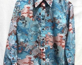 Vintage 1970's Patterned Blouse