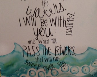 Isaiah 43:2 Canvas