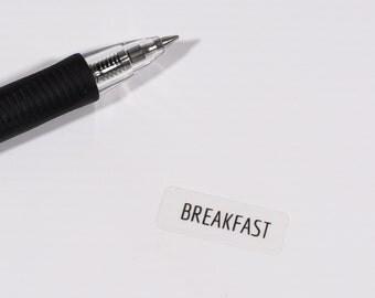 Clear Breakfast Weekly Planner Sticker,Clear Weekly Planner Sticker,Happy Planner Sticker,ECLP,Breakfast Sticker,Clear Reminder Stickers