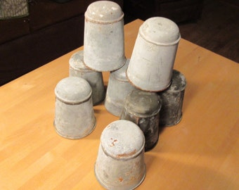 Early 1900's French zinc pots