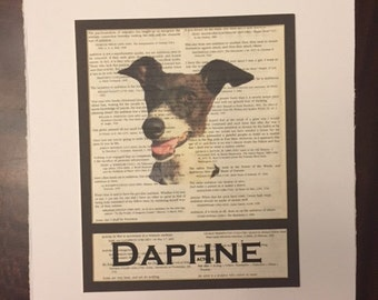 Personalized Art Print of your own photograph, matted to fit an 8x10 frame, on paper from quotations book