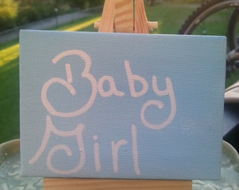 Baby girl sign,  hand painted hand lettered sign, bdsm, owned, babygirl, daddy kink, Valentine,  birthday,  Christmas,  anniversary gift