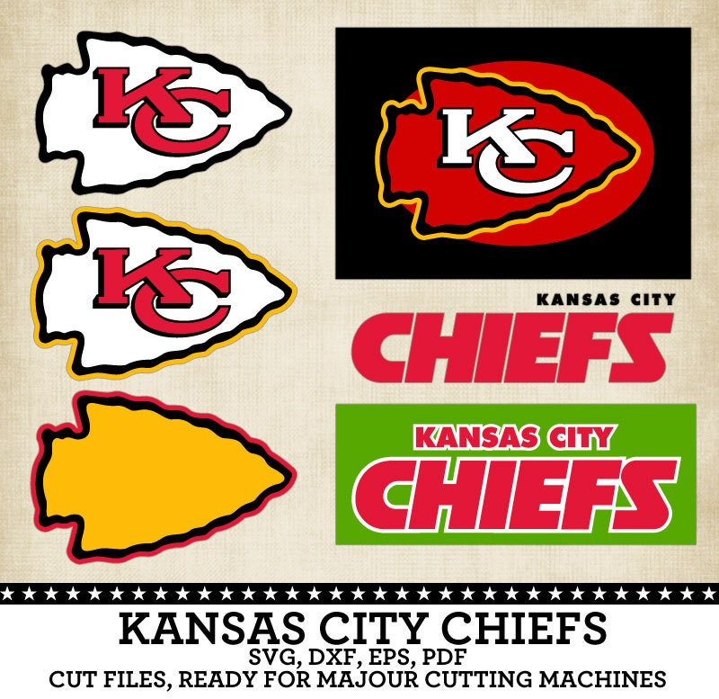 Download Kansas City Chiefs Football Club Logo SVG DXF by ...