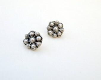 Sterling Silver Filigree Earrings {1030}