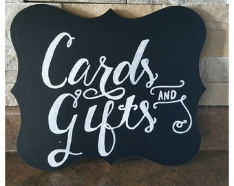 "Handmade / Handwritten "" Cards & Gifts"" Chalkboard Sign"