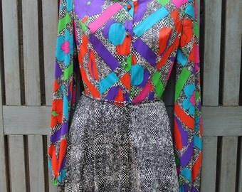 60's Mod Long Sleeve Mini Dress (Sundays Child California)