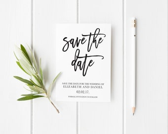 Save the Date Template,Save the Date Printable, Black & White Save the Date Printable,Printable Save the Date Template,Save the DateTemplate