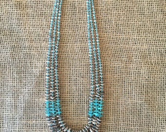 Native American Turquoise-Shell Round Necklace