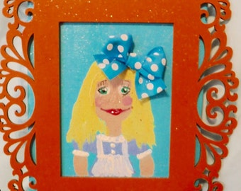 Whimsical Alice In Wonderland Picture Frame