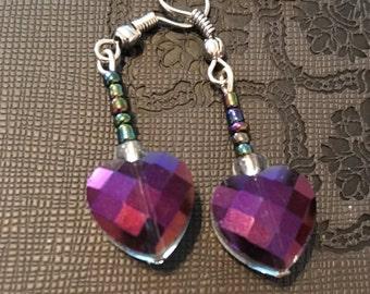 Multicolored Heart Earrings