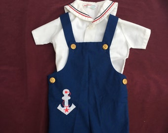 1960s Health-Tex Sailor Two Piece Size 3T