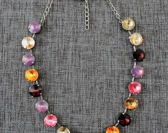 Handmade Crystal Full-length Necklace