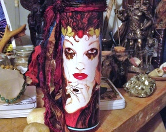 Gypsy Woman, Spell Candles, Altar Ritual Candles, 7 Day Jar Candles, Decorative Candles, Pagan Ritual Candles, Boho, Gypsy