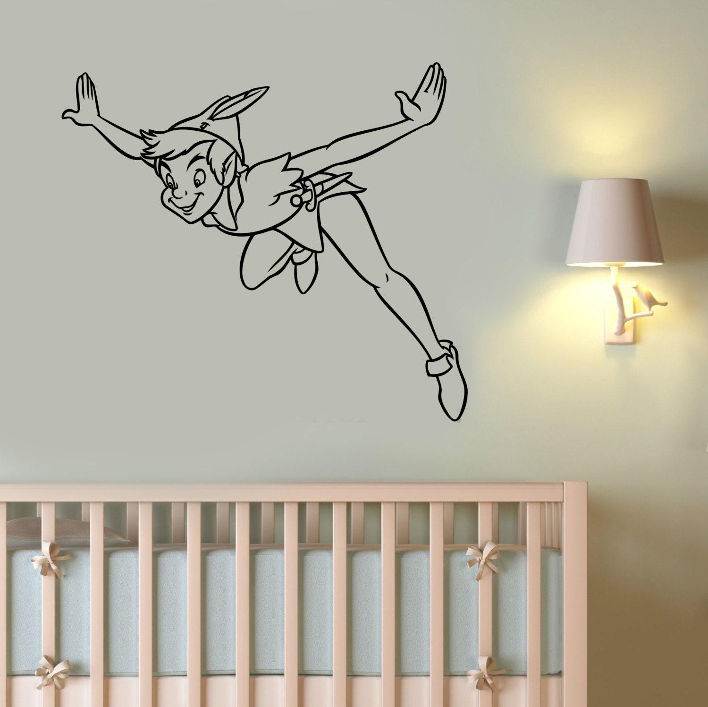 peter pan vinyl decal wall sticker disney art neverland. Black Bedroom Furniture Sets. Home Design Ideas