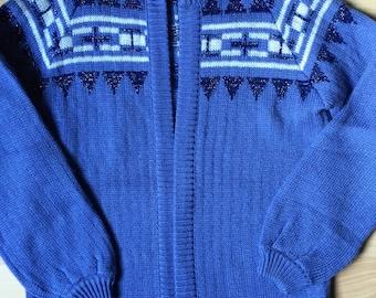 Vintage Cardigan in Blue