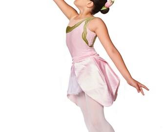 Halloween Costume, Toddler Ballet Leotard, Flower Costume, Recital Costume, Tulle Costume, Kids Dancewear, Dance Gift, Pink Costume