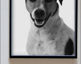 Dog Print - Nursery Art - Home Decor - Black and White - Baby Animal
