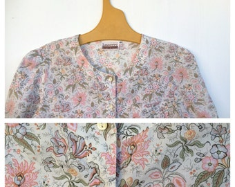 Liberty Delicate and Femine 1970s French Floral Blouse