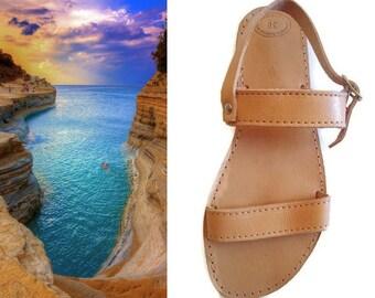 Strappy Sandals, Sandales Grecques, Roman Grecian Sandal, Ancient Greek Shoes, Bommel Sandalen, Spartan Leather Flat, Multi Strand Sandals