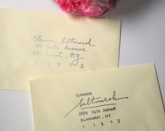 Handwritten Wedding Invitation Envelopes, Calligraphy, Wedding Invitation Lettering