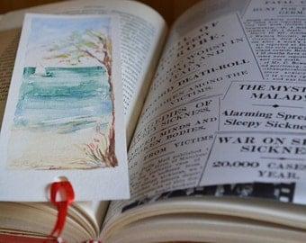 Original watercolor   Bookmark   Marina