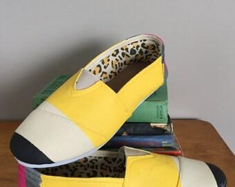Women's Pencil shoes, Teacher Gift, Christmas, Teacher, Back to School,