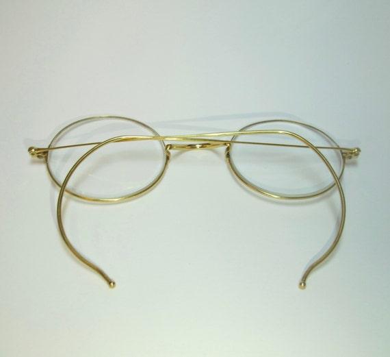 Vintage 14K Yellow Gold Windsor Frame Eyeglasses