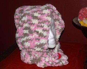 Pink Knit Hood