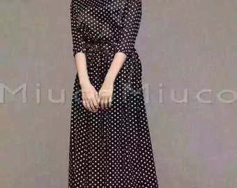 Black Polka Dot Dress - 16R031