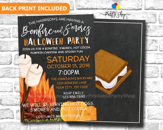 Outdoor Halloween Party Invitation