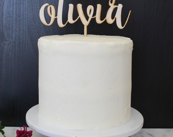 Personalized Baby Shower Cake Topper | Custom Name | Shortcake Collection