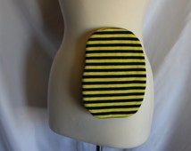 Yellow and Navy Stripe Knit Colostomy Bag Cover Stoma Pouch