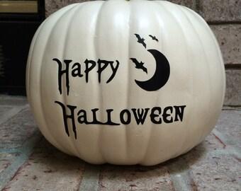 Pumpkin Decal - Halloween Decal - *.99 Shipping*