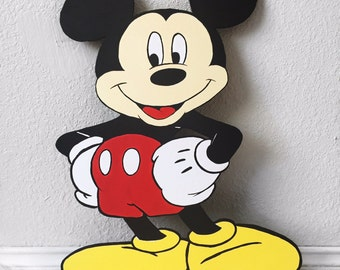 Sale! 2 FT Minnie or Mickey Mouse Cutout Standee Party Decor Photo Prop