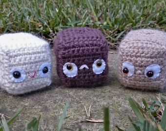 Brown squonies - set of 3