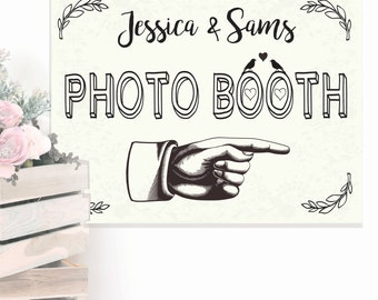 Photo Booth Canvas Sign