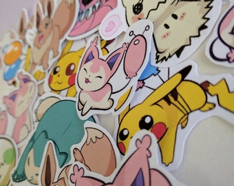Pokemon Sticker Pack! Packs of 3 5, 7, and 10