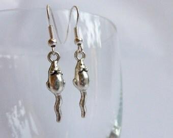 Small Mice Rat Earrings Mouse EArrings Silver Coloured Rat Jewellery