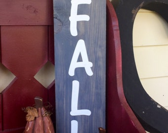 Gray wood hello fall sign/wood sign/wood fall sign/hello fall sign/gray wood sign