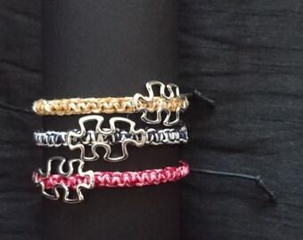 Square Knot Puzzle Piece Bracelet
