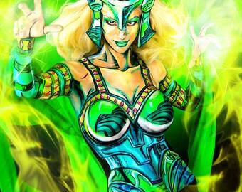Enchantress (Marvel) Bodypaint 8.5x11 Print