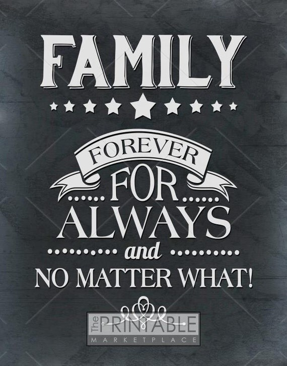 Printable Art Family Forever Wall Art Home Decor Wall