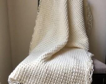 Baby Blanket / Throw / Lap Afghan   Crochet   Handmade