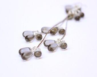 brown wedding quartz earrings long earrings drop earrings bridesmaid gift girlfriend rustic earrings bridal jewelry boho earrings gifts w147