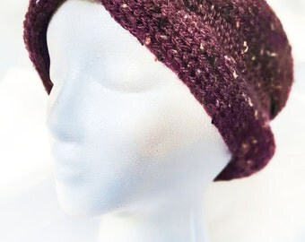 Knit Purple Ear Warmer Headband