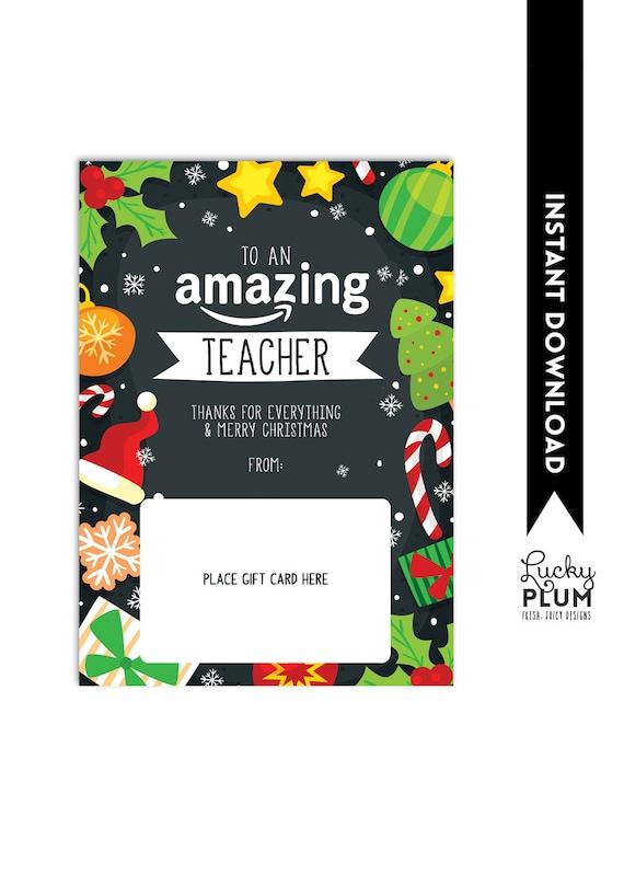 Amazon Gift Card Holder Teacher Thank You Christmas