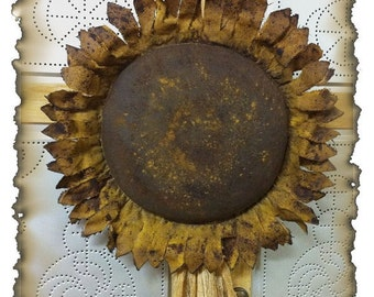 MAILED PAPER PATTERN~Primitive Large Grungy Sunflower Door Greeter Sewing Pattern