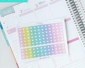 Cute heart rainbow checklist planner stickers set, to do, tasks, list, chores stickers, errands, pastel, CHK3
