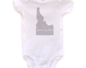 idaho baby clothing, idaho baby gift, idaho love, idaho shower gift, baby neutral, cute baby gift, free shipping