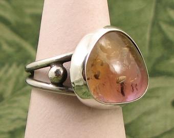 Ametrine Sterling baroque Ring size 6.5 - OOAK